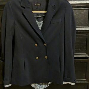 Massimo Dutti navy blue jacket